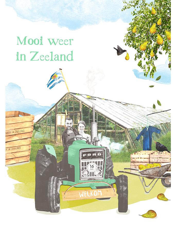 Mooi weer in Zeeland illustratie